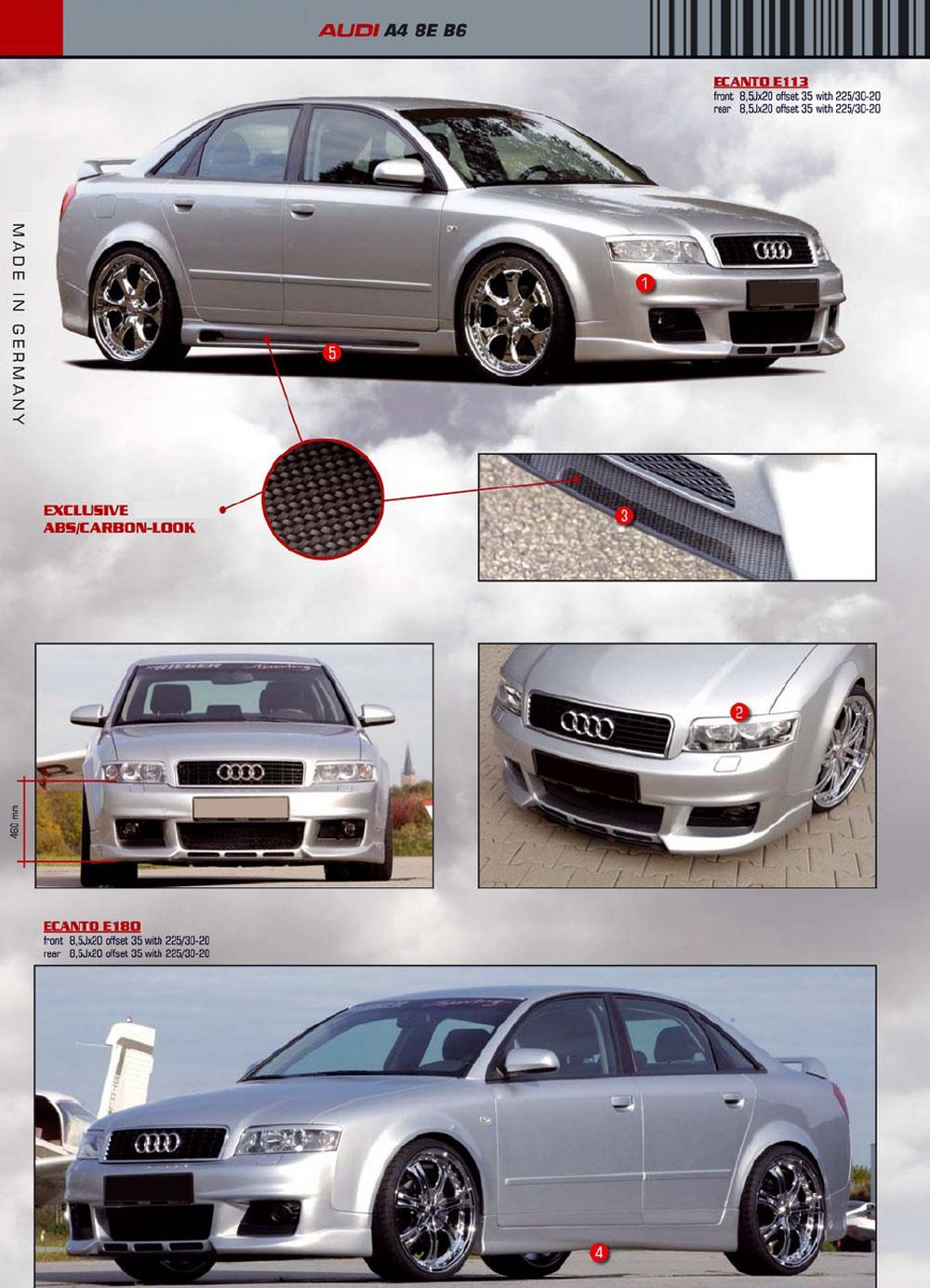 Audi a4 b6 Body Kit Body Kits 3 3 a4 b6