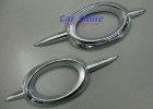 Mercedes - W211 - Chrome Fog Light Frames 1