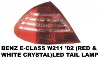 Mercedes - W211 - Red Clear Crystal LED Taillights