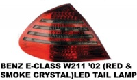 Mercedes - W211 - Red Smoked Crystal LED Taillights