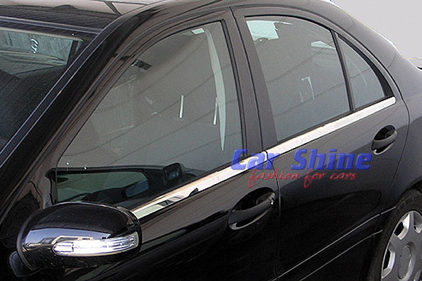 Mercedes W203 C Class Chrome Window Trim 4pce Value