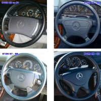Mercedes - R129 - 4 Types of Steering Wheels