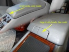 Mercedes - W163 - Center Console Late Early Difference