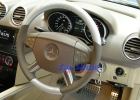 Mercedes - W164 - Carbon fibre Leather Steering Wheel - Silver