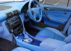Mercedes - W203 - Custom Interior Blue Pattern