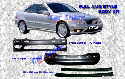 Mercedes - W203 Styling - AMG Full Body Kit - LUDBP104ALL