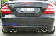 Mercedes - W209 - Rieger Rear Bumper Exhaust 2