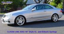 Mercedes - W209 Styling - CLK500 with AMG 18 Style IV + Eibach Springs
