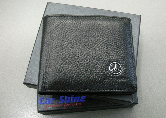mercedes benz style leather wallet black. Black Bedroom Furniture Sets. Home Design Ideas