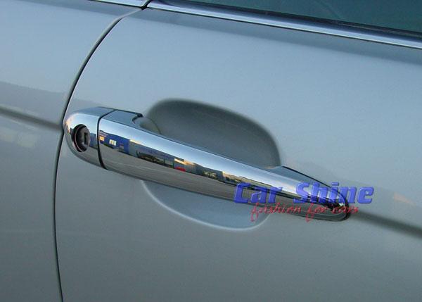 & BMW E46 CHROME DOOR HANDLE COVERS - 4 DOOR 98-02 Pre-facelift