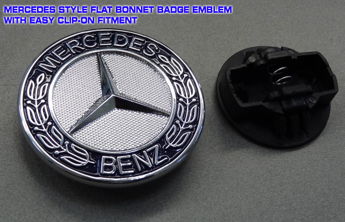 Mercedes style bonnet badge emblem 57mm for Mercedes benz bonnet badge