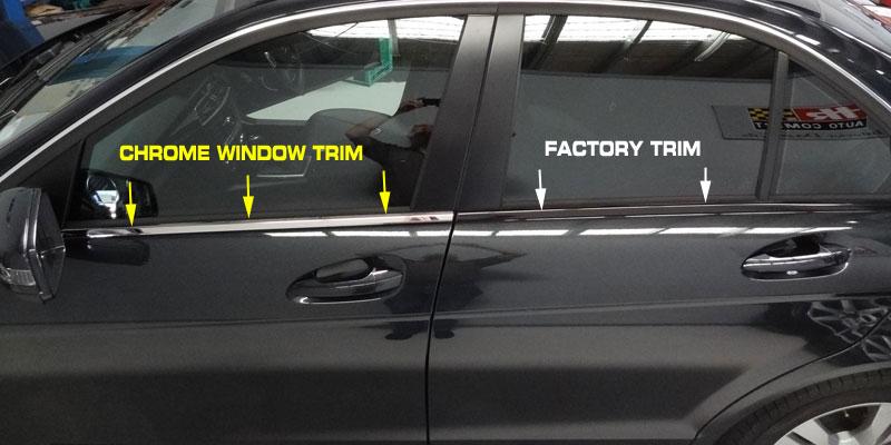 Mercedes W204 C Class Chrome Window Trim 4pce Value
