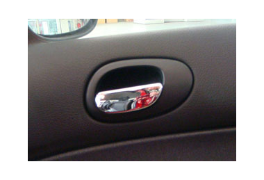 Peugeot 206 CHROME INTERIOR DOOR HANDLE PULL COVERS